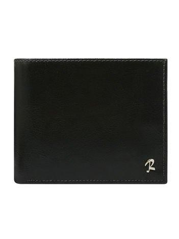 Czarny męski portfel skórzany z ochroną RFID