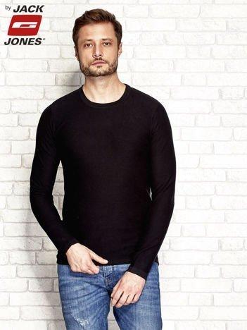 Czarny sweter męski z naszywką