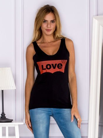 Czarny top LOVE