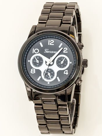Czarny zegarek damski na bransolecie