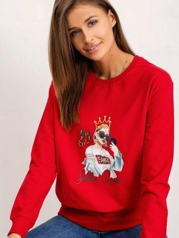 Czerwona bluza Queen