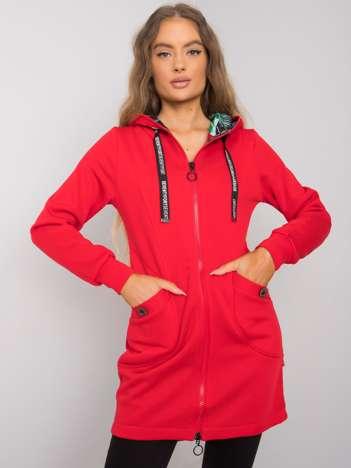 Czerwona bluza damska z kieszeniami Frieda
