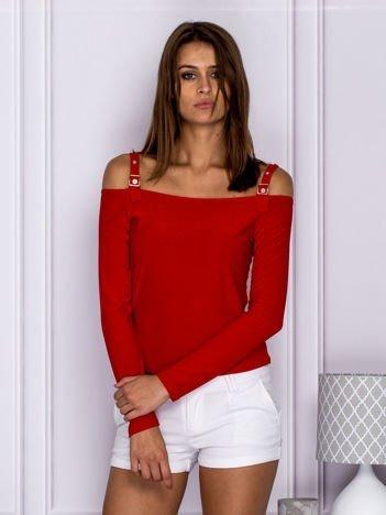 Czerwona bluzka damska cut out