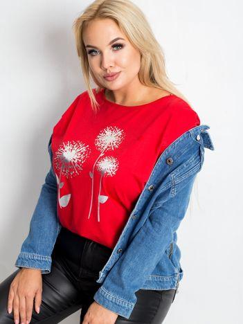 Czerwona bluzka plus size Dreamer