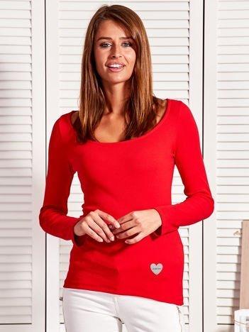 Czerwona bluzka w prążek