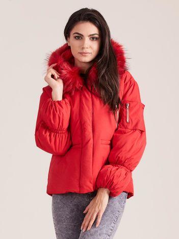 Czerwona damska kurtka na zimę