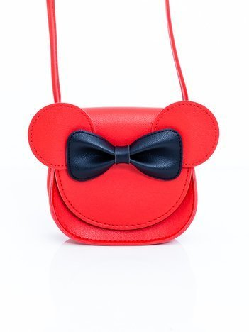 Czerwona dziewczęca torba z kokardą