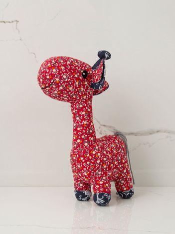 Czerwona maskotka dziecięca Żyrafka