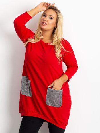 Czerwona tunika plus size Amber