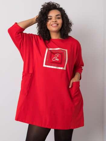 Czerwona tunika z bawełny Gillian
