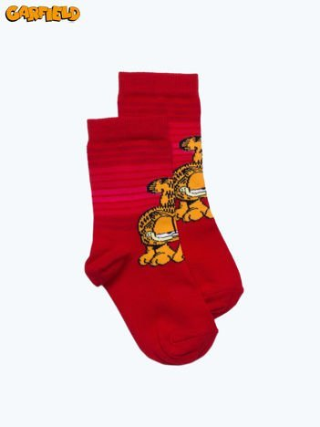 Czerwone skarpetki dla dziewczynki GARFIELD
