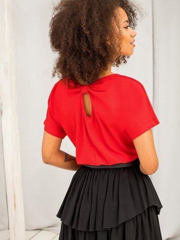 Czerwony bawełniany t-shirt