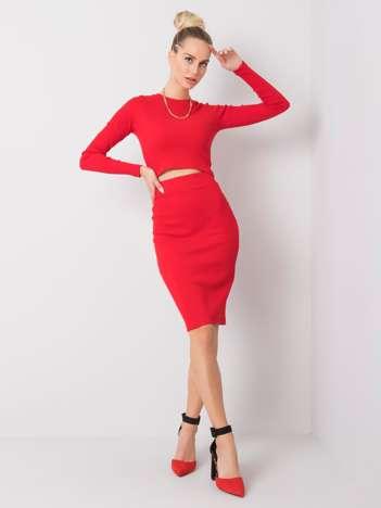 Czerwony komplet Leilah