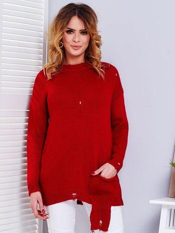 Czerwony sweter vintage