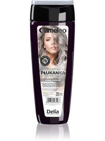 DELIA Płukanka do włosów Z WODĄ KWIATOWĄ CAMELEO srebrna 200 ml