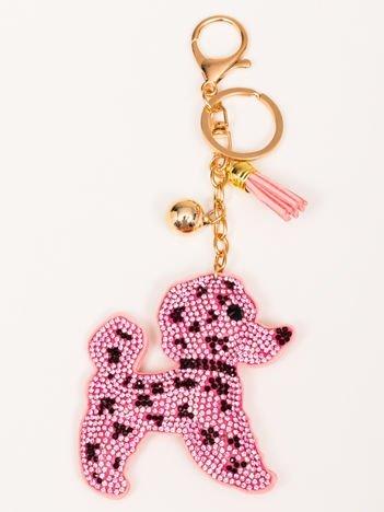 DOG Różowy Brelok Pies z chwostem