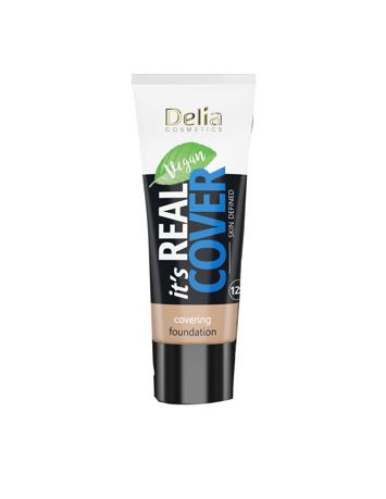 """Delia Cosmetics It's Real Cover Podkład kryjący rewitalizująco-nawilżający nr 204 Frappe  30ml"""""""