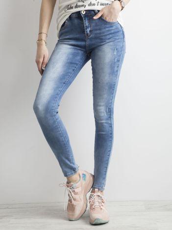 Denimowe spodnie niebieskie