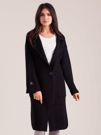 Długi czarny sweter damski