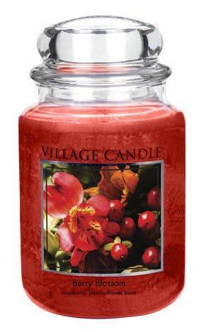 Duża świeca zapachowa Village Candle - Berry Blossom 645 gr
