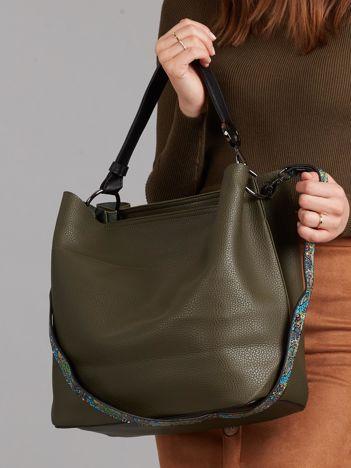 Duża torba z ekoskóry zielona