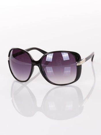 """Duże czarne eleganckie okulary damskie """"MUCHY"""""""