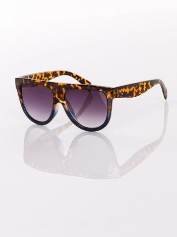 Duże damskie dwukolorowe eleganckie okulary GWIAZD