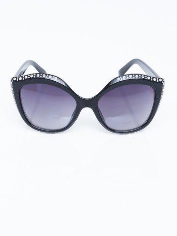 Duże okulary przeciwsłoneczne CRYSTAL CAT EYE
