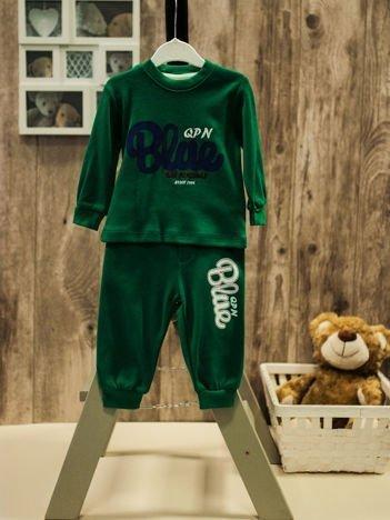 Dwuczęściowa bawełniana piżamka dla chłopca zielona