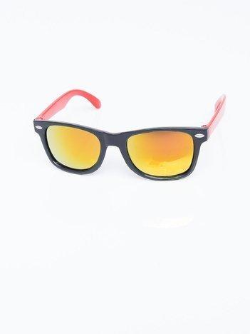 Dwukolorowe dziecięce okulary przeciwsłoneczne z filtrami uv