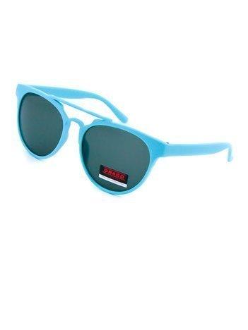 Dziecięce okulary przeciwsłoneczne niebieskie z filtrami