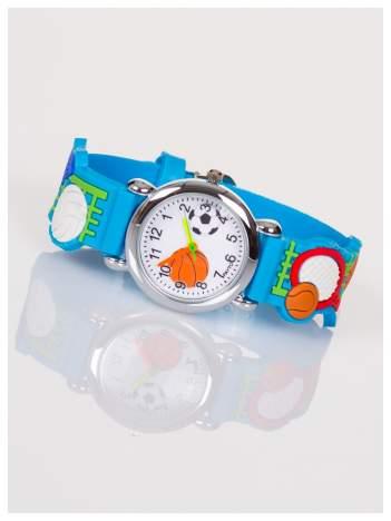 Dziecięcy czarny zegarek SPORT z kolorowymi wskazówkami