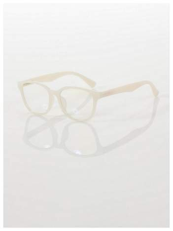 ECRU! Modne okulary zerówki klasyczne - soczewki ANTYREFLEKS,system FLEX na zausznikach