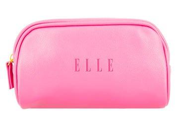 ELLE Kosmetyczka kompaktowa różowa