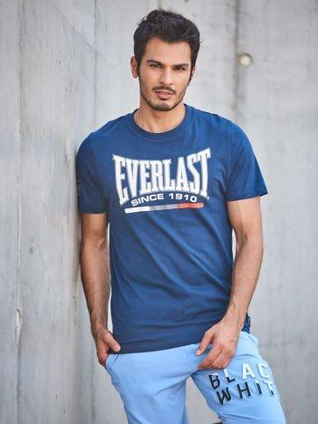 EVERLAST Granatowy t-shirt męski z nadrukiem logo