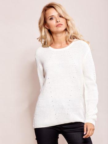 Ecru luźny sweter