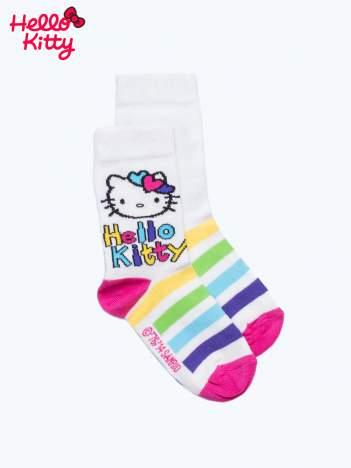 Ecru skarpetki dla dziewczynki HELLO KITTY