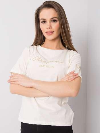 Ecru t-shirt Gaia RUE PARIS