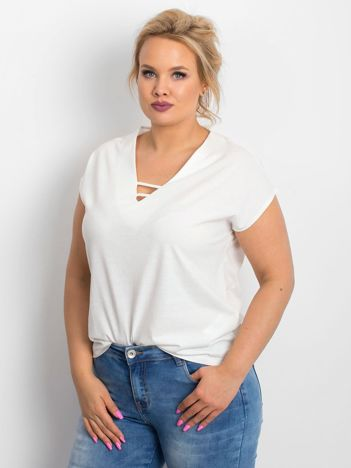 Ecru t-shirt plus size Darlyne