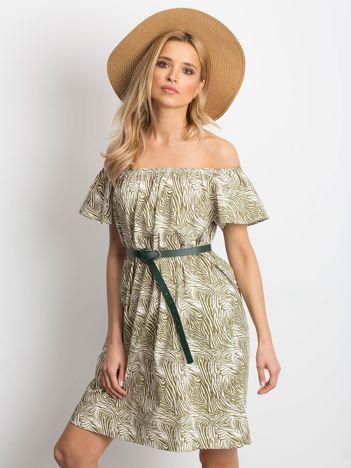 16a6407736 Ecru-zielona sukienka Mansion