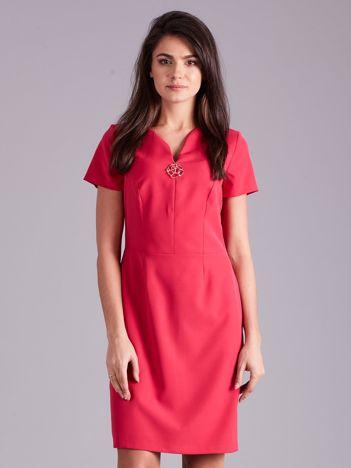 Elegancka sukienka damska różowa