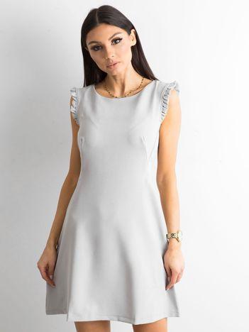 Elegancka sukienka szara