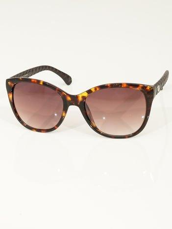 Eleganckie przeciwsłoneczne okulary damskie w kolorze pantery