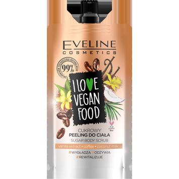 "Eveline I Love Vegan Food Cukrowy Peeling do ciała Kawa  75ml"""
