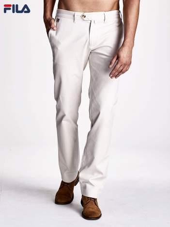 FILA Beżowe spodnie męskie chino ze stretchem