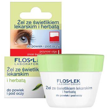 FLOSLEK Żel ze świetlikiem lekarskim i herbatą do powiek i pod oczy 10 g