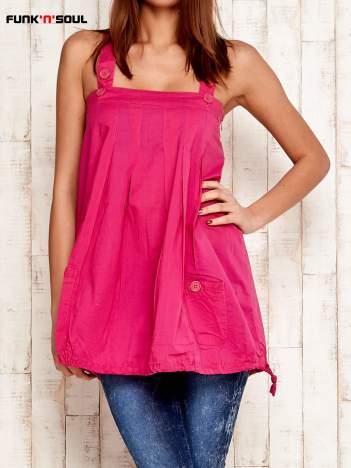 FUNK N SOUL różowa tunika z guzikami