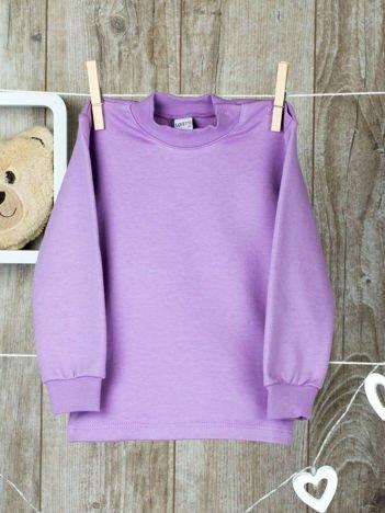 Fioletowa  bawełniana klasyczna bluzeczka niemowlęca z półgolfem  dla  dziewczynki