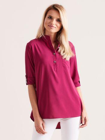 Fioletowa bluzka ze stójką