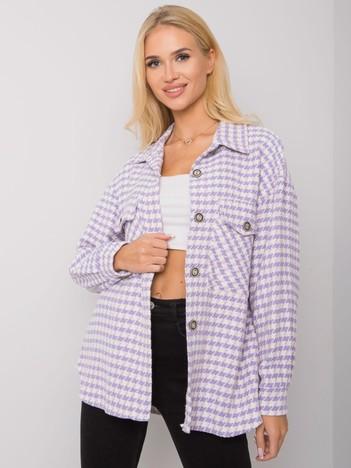 Fioletowa koszula we wzory Shinda